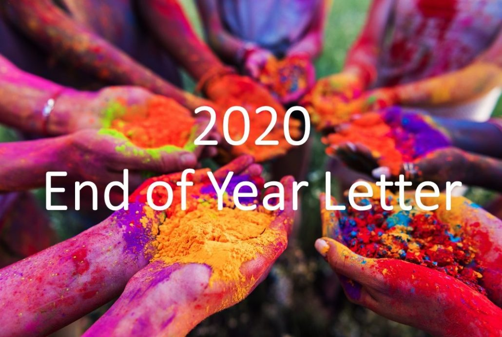 2020 - End of Year Letter