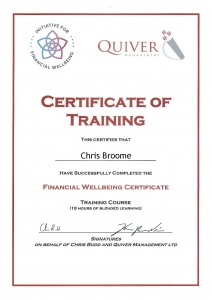 Financial Wellbeing Certificate