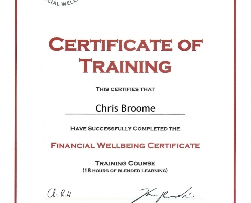 Financial Wellbeing Certificate